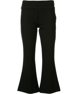 Nicole Miller | Flared Cropped Trousers 2 Polyester/Spandex/Elastane/Cotton/Viscose