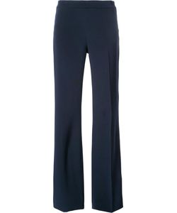 Carolina Herrera | Long Flared Trousers 16 Silk/Virgin Wool