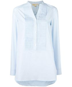 Michael Michael Kors | Ribbed Trim Blouse Large Cotton/Polyester