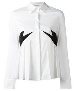 Neil Barrett   Lightning Patches Shirt Large Cotton/Polyamide/Polyester/Spandex/Elastane