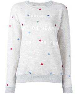 Zoe Karssen | Embroidered Heart Sweatshirt Medium Cotton/Polyester