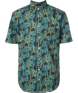 Gitman Vintage | Palm Print Shirt Small Cotton