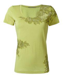Ermanno Scervino | Lace Detailing T-Shirt 42 Cotton/Viscose/Polyamide/Polyester