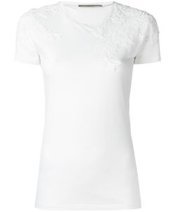 Ermanno Scervino | Lace Inset T-Shirt 42 Cotton