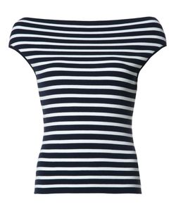Michael Kors   Boatneck Striped Knitted Blouse Small Viscose