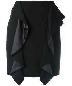 Givenchy | Draped Panel Mini Skirt 40 Wool/Silk/Acetate