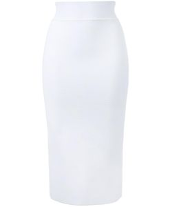 SCANLAN THEODORE | Crepe Slit Back Skirt Large Viscose
