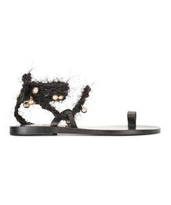 ANCIENT GREEK SANDALS   Clotho Sandals 36 Leather/Cotton
