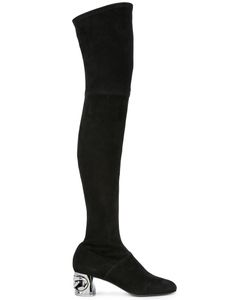 Casadei | Thigh Length Boots 36.5 Suede/Leather