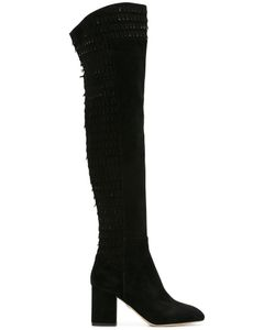 Elie Saab | Over The Knee Boots 37 Suede/Leather