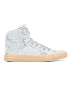 MM6 by Maison Margiela | Mm6 Maison Margiela Denim Hi-Tops 40.5 Cotton/Leather/Rubber