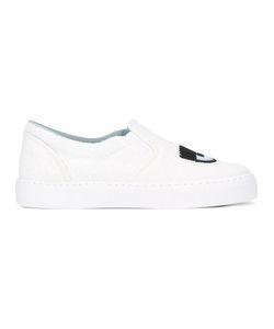 Chiara Ferragni | Glitter Slip-On Sneakers 37 Rubber/Leather/Pvc