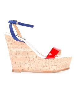 Dsquared2 | Crisscross Strap Wedge Sandals 36 Patent Leather/Suede/Leather/
