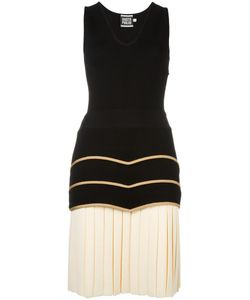 Fausto Puglisi | Drop Waist Pleated Dress 42 Viscose/Polyamide/Polyester/Spandex/Elastane