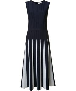 Carolina Herrera | Pleated Knit Dress Small Viscose