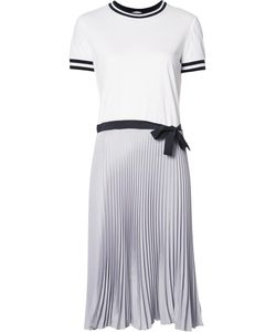 Red Valentino | Pleated T-Shirt Dress Medium Cotton/Silk