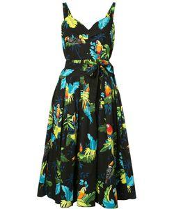 Marc Jacobs | Tropical Print Dress 0 Cotton/Spandex/Elastane