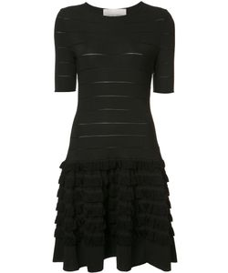 Carolina Herrera | Short Sleeve Fringe Dress Medium Viscose