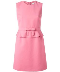 Red Valentino | Peplum Mini Dress 44 Acetate/Polyester/Cotton/Viscose
