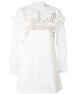 SELF-PORTRAIT | Sheer Shift Dress 14 Polyester/Spandex/Elastane/Viscose