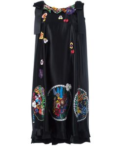 Fendi | Embroidered Dress 40 Silk/Viscose/Cotton/Polyester