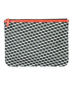 Pierre Hardy | Geometric Print Clutch Adult Unisex Calf Leather/Canvas