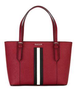 Bally | Striped Trim Tote Calf Leather