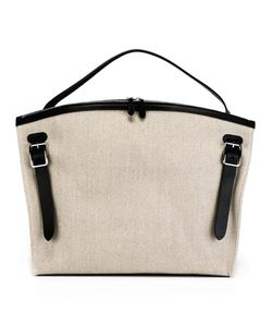 Jil Sander | Large Hill Tote Cotton/Leather