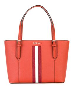 Bally | Striped Trim Shoulder Bag Calf Leather