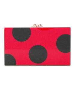 Charlotte Olympia | Dotty Pandora Clutch Cotton/Pvc