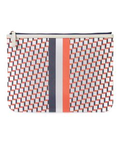 Pierre Hardy | Geometric Print Clutch Adult Unisex Calf Leather/Canvas