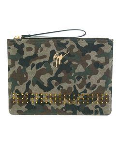Giuseppe Zanotti Design   Camouflage Clutch Leather/Cotton/Metal