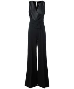 Max Mara | V Neck Jumpsuit 38 Polyester/Silk/Acetate/Polyamide