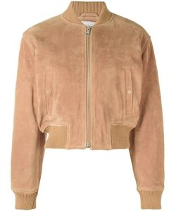 See By Chloe | See By Chloé Cropped Bomber Jacket 40 Leather/Viscose/Polyester