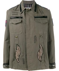 Etro | Beaded Patch Embellished Army Jacket Xl Cotton