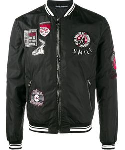 Dolce & Gabbana | Patch Embellished Bomber Jacket 50
