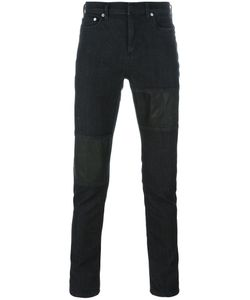 Neil Barrett | Panelled Jeans 34 Leather/Cotton/Polyester/Spandex/Elastane