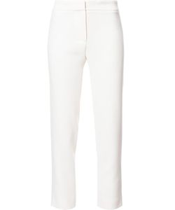 Carolina Herrera | Slim-Fit Cropped Tailored Trousers 8 Silk/Virgin