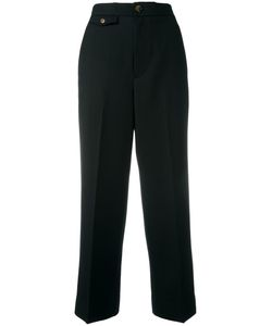 Helmut Lang | Ankle Length Pants 4 Wool/Cotton