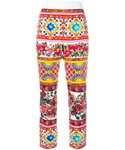 Dolce & Gabbana | Mambo Print Cropped Trousers 38 Silk/Spandex/Elastane