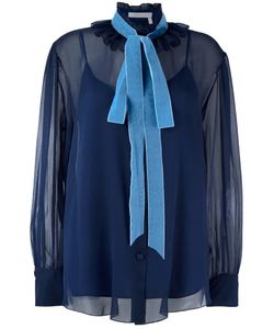 See By Chloe | See By Chloé Velvet Collar Blouse 42 Polyester/Polyamide