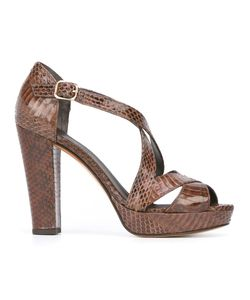 Tila March | Nevada Sandals 39 Watersnake Skin/Leather