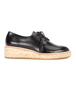 Loeffler Randall | Callie Lace-Up Shoes 9.5 Raffia/Calf Leather/Rubber