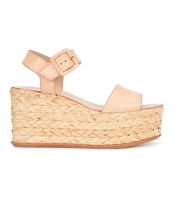 Loeffler Randall | Alessa Sandals 8.5 Raffia/Leather