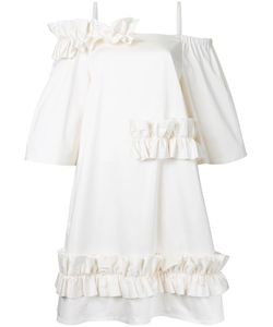 PASKAL | Ruffled Trim Dress Xs Cotton/Spandex/Elastane