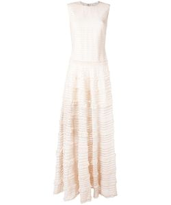 Givenchy | Ruffle Trim Sheer Stripe Evening Gown 38