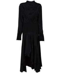 J.W. Anderson | J.W.Anderson Asymmetric Hem Dress Size 10 Viscose/Silk/Polyester/Triacetate