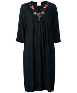 Forte Forte | Embroidered Dress I Virgin Wool/Cotton/Linen/Flax/Cupro