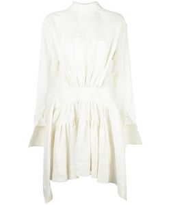 J.W. Anderson | J.W.Anderson Gathered Waist Dress 10 Linen/Flax