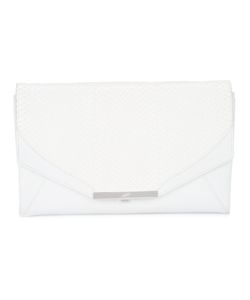 KHIRMA ELIAZOV | Contrast Panel Clutch Bag Watersnake Skin/Leather/Suede